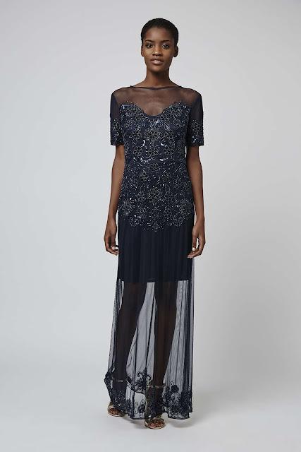 kamilla dress TFNC, TFNC black sheer dress, sheer black maxi dress,