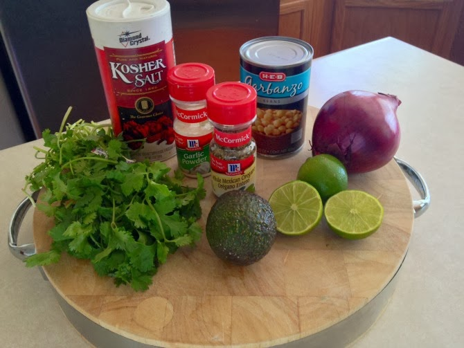 The Holland House: Smashed Chickpea and Avocado Ingredients