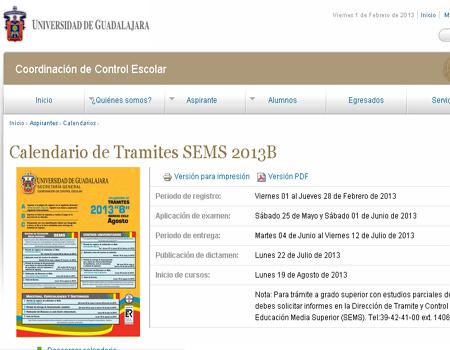 UDG registro de tramites primer ingreso 2014 B Centros Universitarios