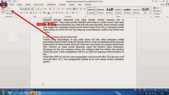 Tips dan Trik, Menulis Karangan dan Mencetak Kedalam Ebook 1