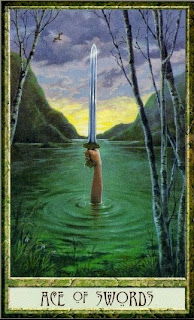 ace of swords, Druidcraft tarot