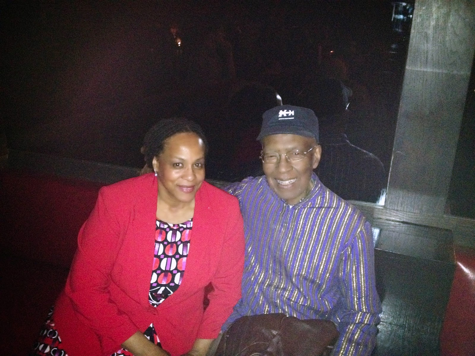 Janice Temple with Kahil Living Jazz Legend Phil Cochran of  AACM