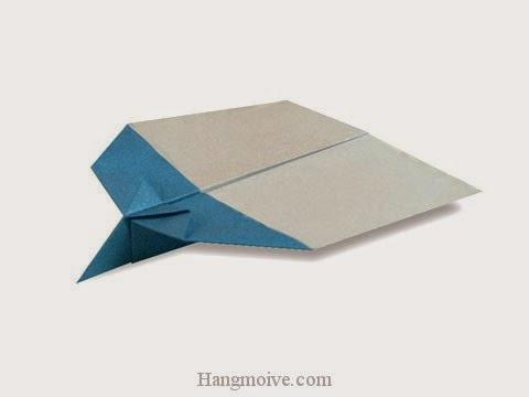 Cách gấp, xếp may bay S-30 bằng giấy origami phi xa, cao, bay lâu mãi không rơi - Video hướng dẫn xếp hình máy bay - How to fold a paper airplane 6