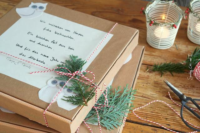 Pizzabox als Geschenkverpackung
