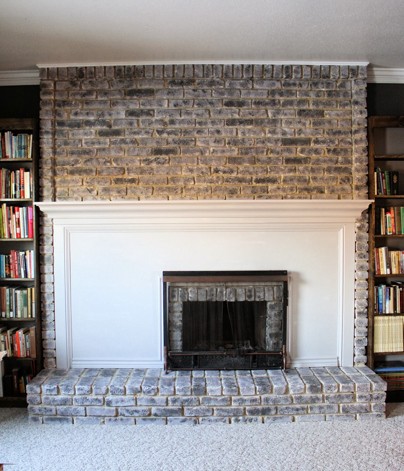 running with scissors tutorial painting a brick fireplace