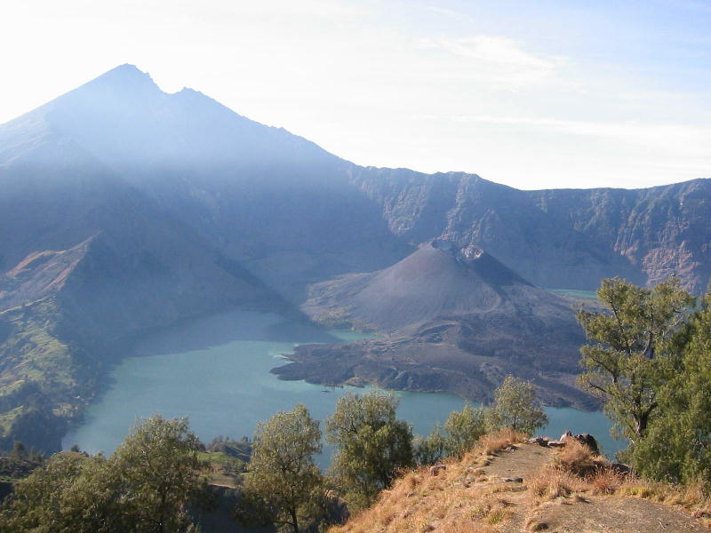 is Most Beautiful Scenery in the World: Gunung Rinjani National Park and Lake Segara Anak Lombok