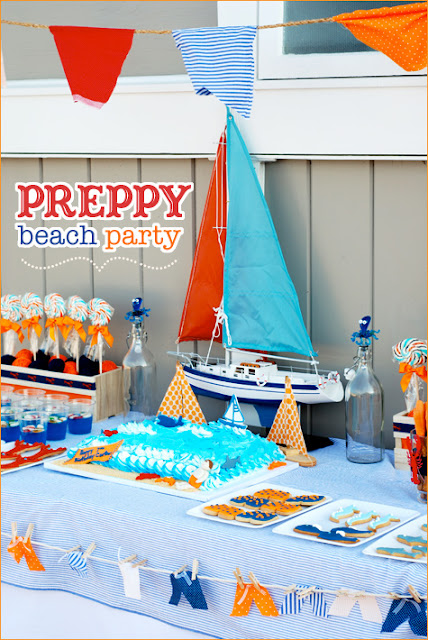 the hostess with the mostest put together a preppy beach party
