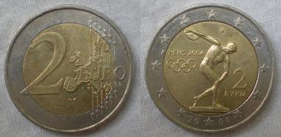 greece 2 euro athens olympics 2004