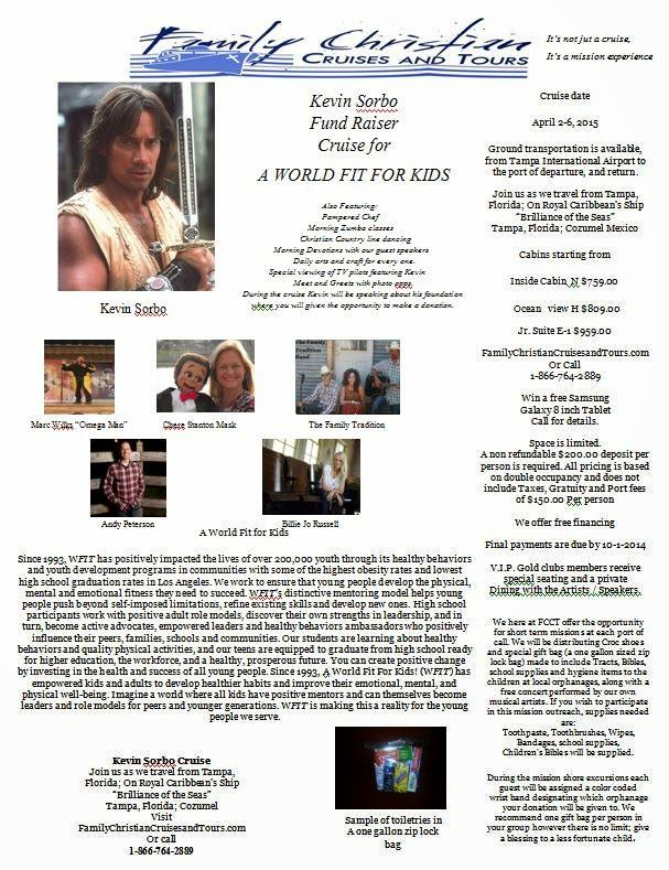 Kevin Sorbo Fund Raising Cruise For A World Fit For Kids