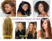 os tipos de cabelos