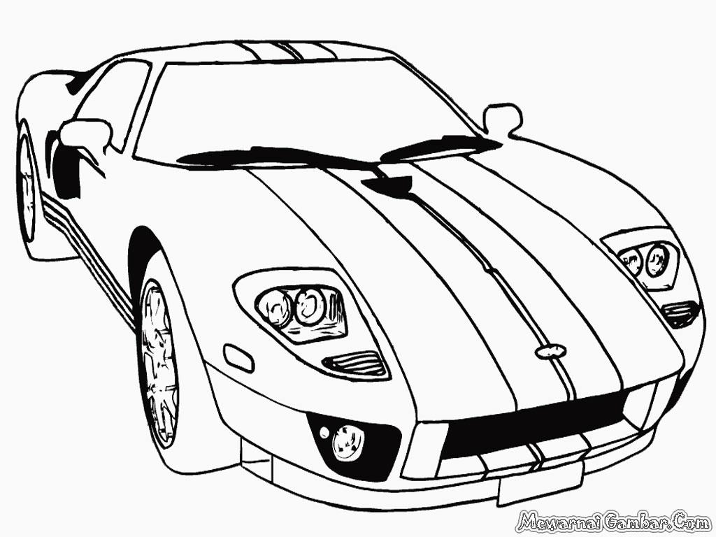 Gambar Mobil Ford Untuk Diwarnai Mewarnai