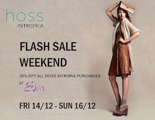 Hoss Intropia - Eden flash sale weekend