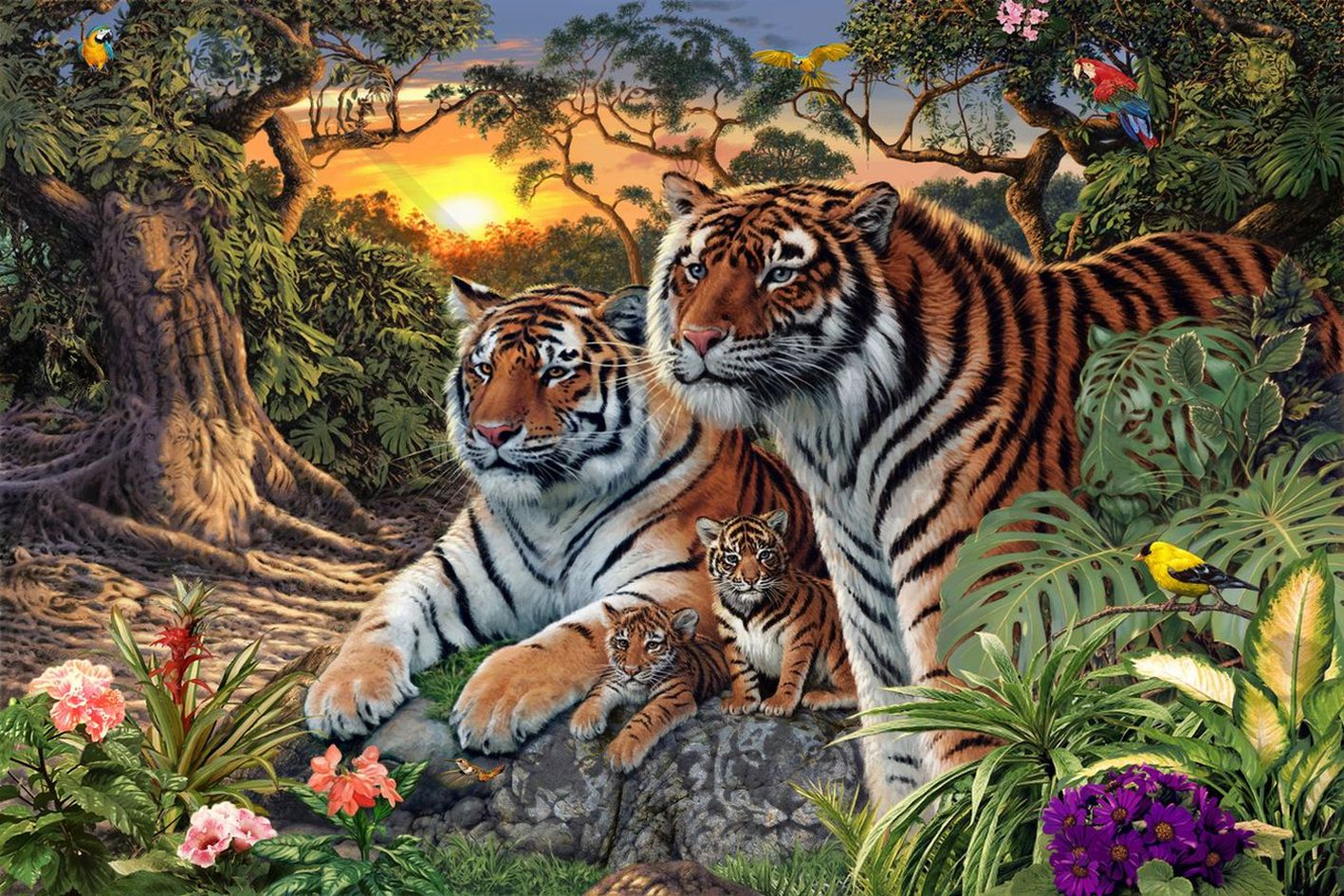 how many tigers can you see in this picture whatsapp