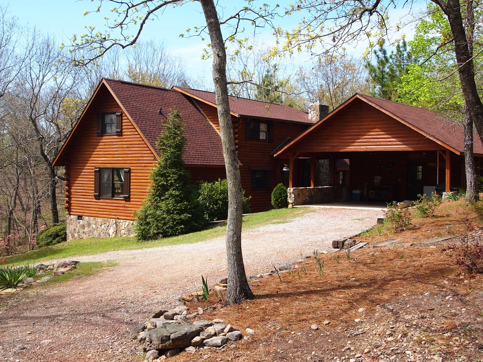 for sale cypress log home
