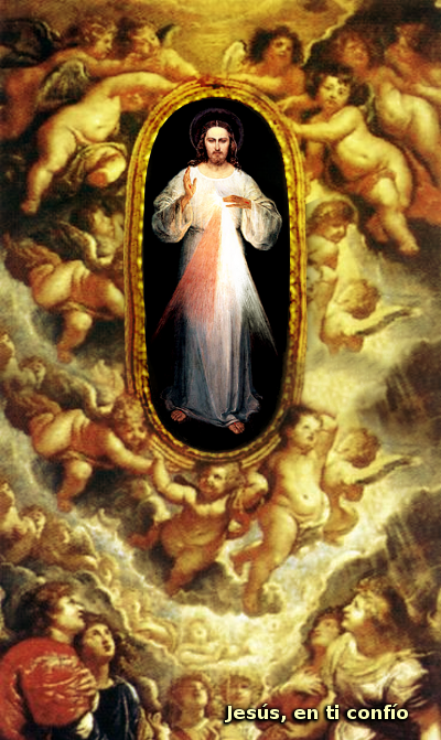angeles con jesus divina misericordia