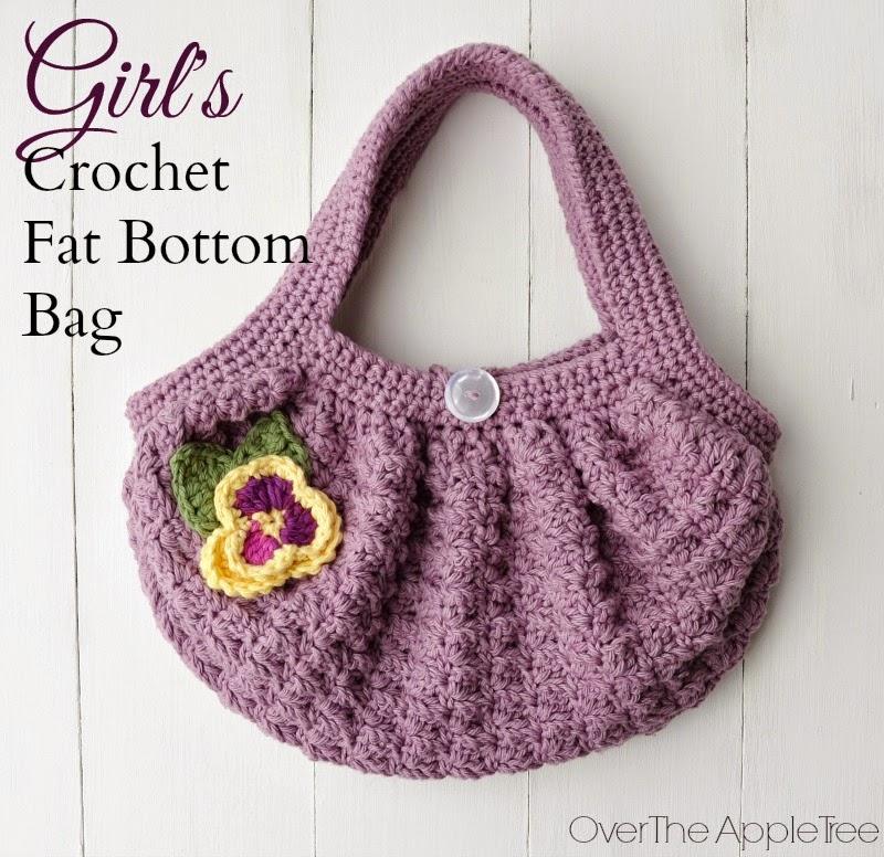 Free Crochet Patterns Fat Bottom Bag : Over The Apple Tree: Girls Crochet Fat Bottom Bag