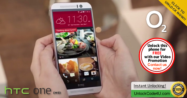 Factory Unlock Code HTC One M9 from O2