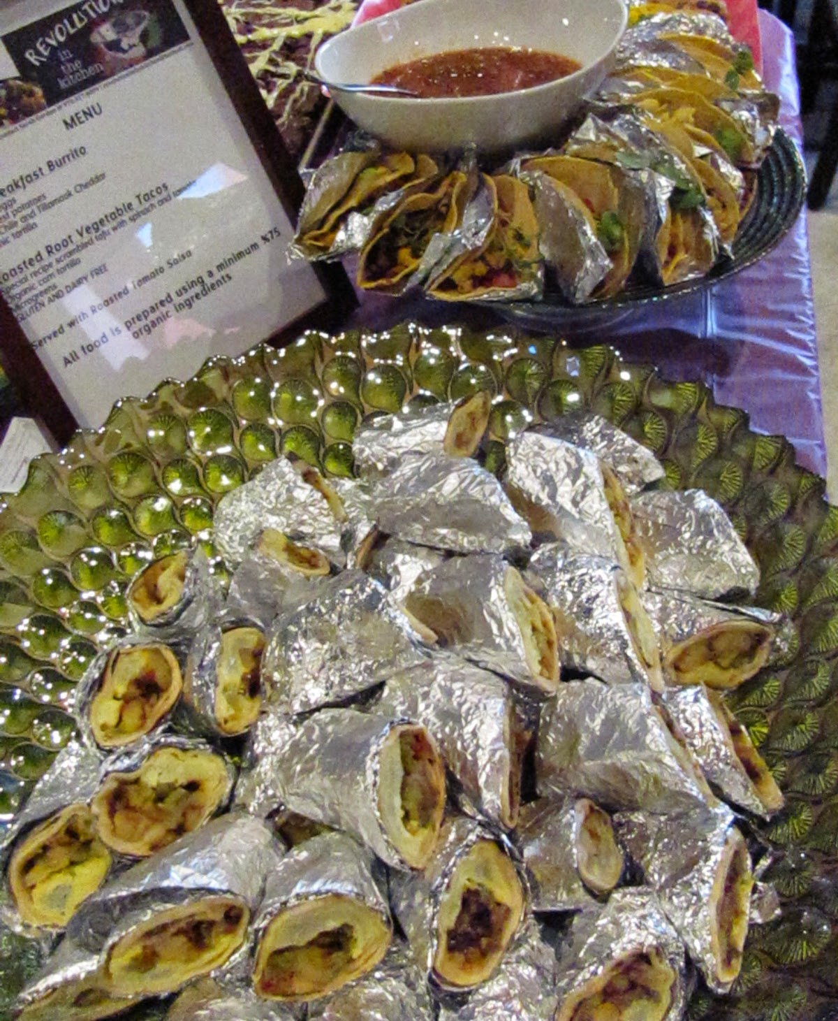 Organic Breakfast Burritos | Vegetarian Breakfast Platters