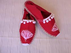 Zapatillas Abanico rojo