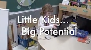 picture of kids text little kids big potential' Tittle
