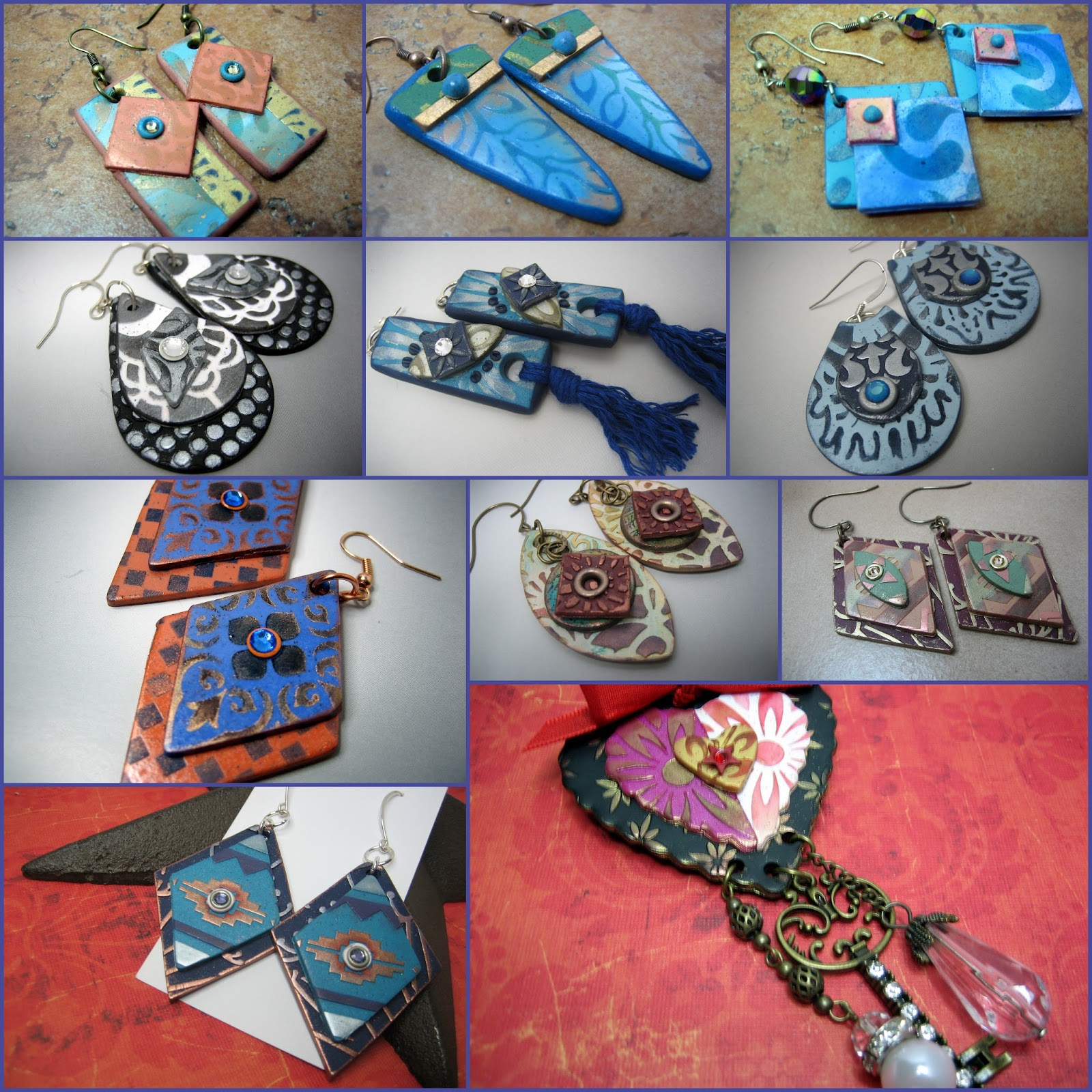polymer clay jewelry projects Free polymer clay tutorial, free polymer clay tutorials, polymer clay, fimo, premo, sculpey, cernit, mixed media, jewelry making, polymere, bijoux.