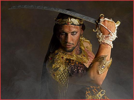 Alain Naim Photographie / Kymaris Modèle / JohMakeUp Création / A Mon Seul Désir Bijoux / Séances Photos Egypte Prince de Perse Orient Pharaon