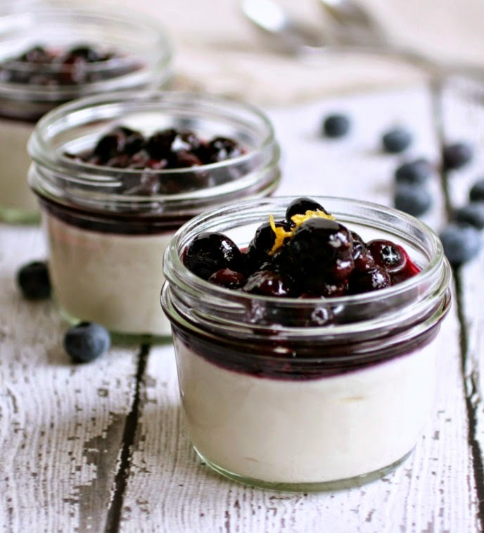 Goat Cheese Mousse with Blueberry Compote