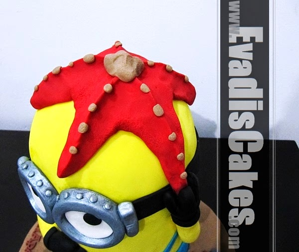 Picture of starfish on Minion head