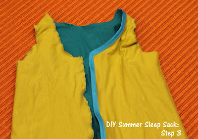 DIY Summer Sleep Sack for Baby Tutorial Step 3