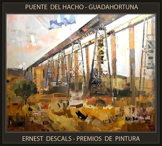 PUENTE DE  EL HACHO-PINTURA-GUADAHORTUNA-GRANADA-ESPAÑA-PAISAJES-PREMIOS-CONCURSOS-PINTOR-ERNEST DESCALS