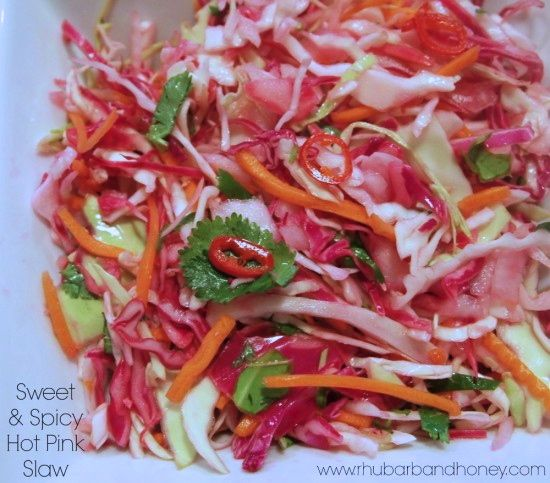 Sweet & Spicy Hot Pink Slaw