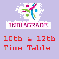 10th 12th Time Table 2016