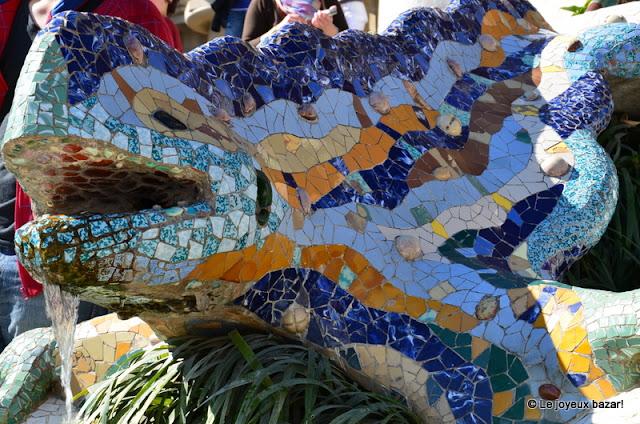 Barcelone  -parc Guell- Gaudi -lezard