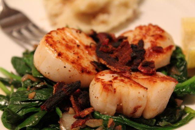 Seared Scallops With Bacon Recipes — Dishmaps