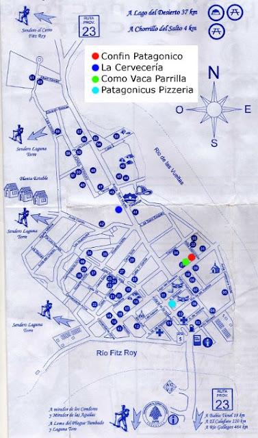 El Chaltén Mapa de Político