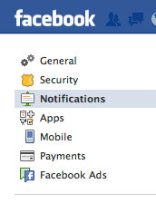 How do i stop getting email notifications from facebook