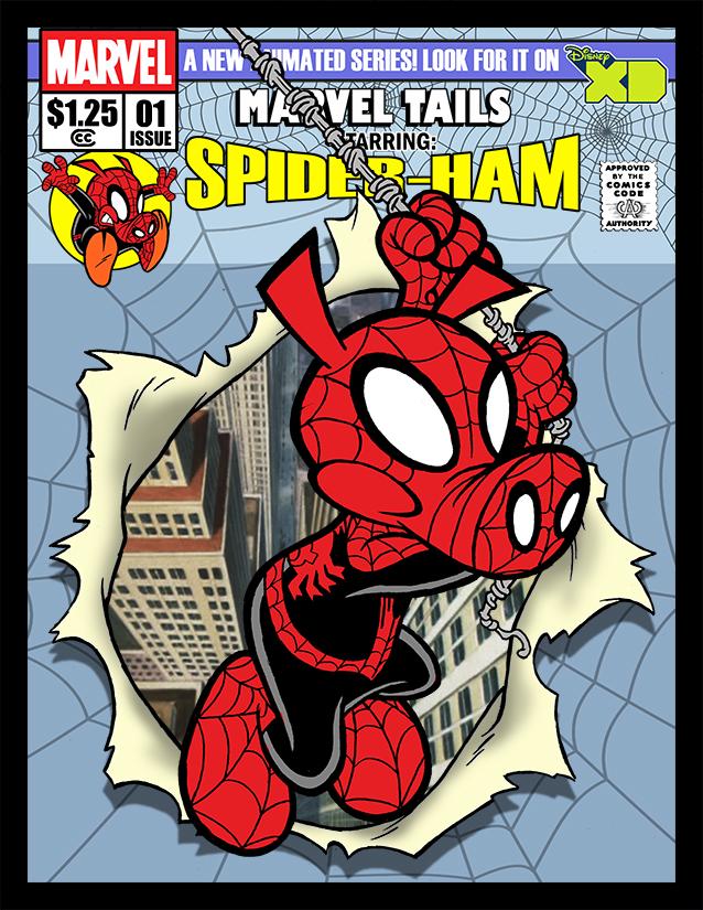 who is spider ham toylab. Black Bedroom Furniture Sets. Home Design Ideas