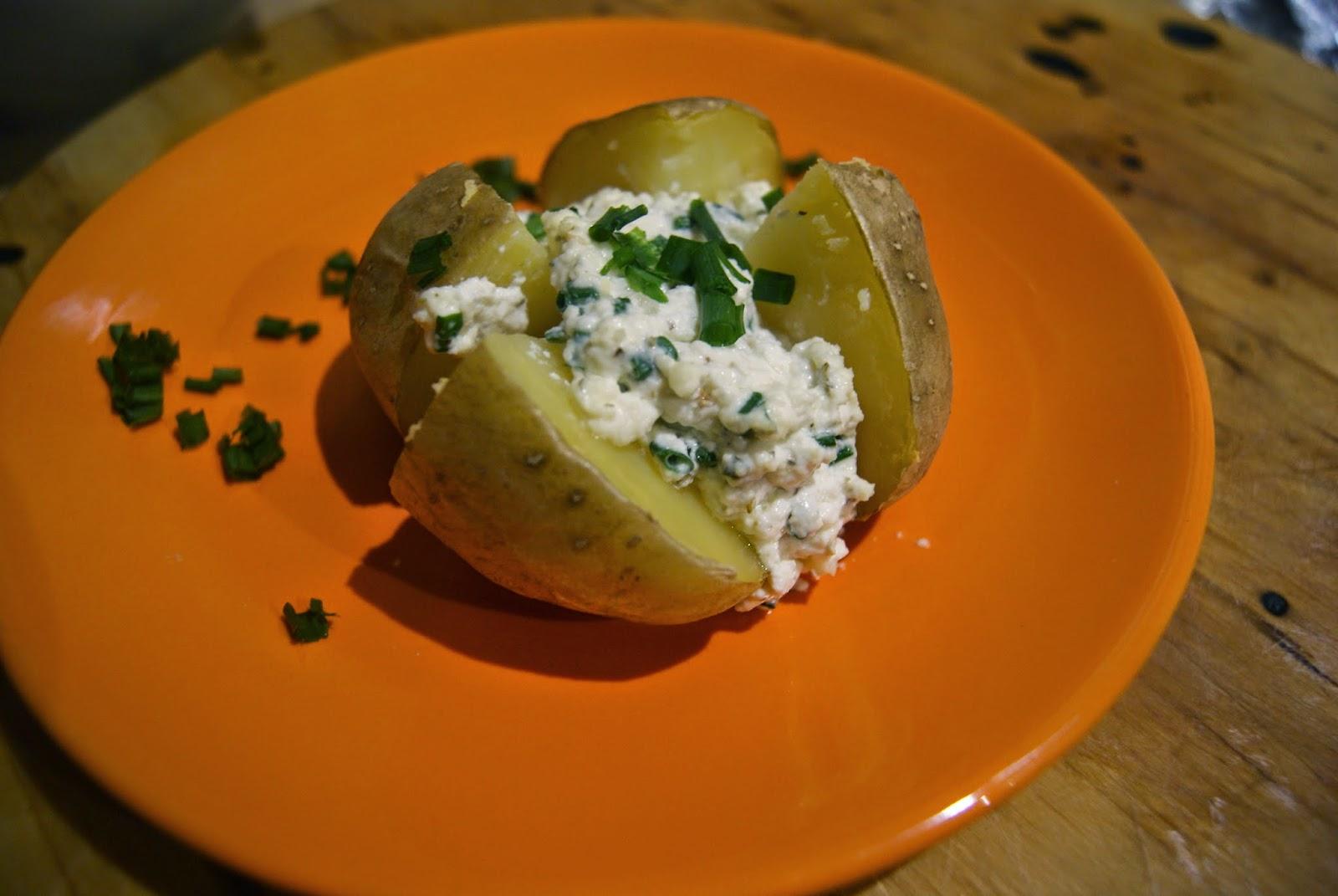 ziemniaki z gzikiem