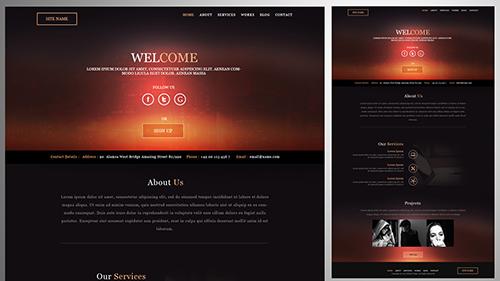 Create a Simple Flat Design Website In Photoshop