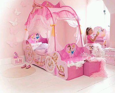 Decorating bedrooms for girls with disney for Cuartos de princesas
