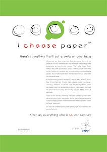 Sappi's 'i choose paper' Ad Campaign