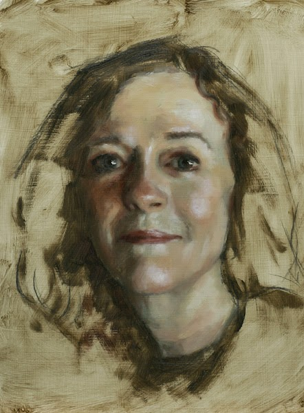 Candace X. Moore: Self-Portrait Painted in Oil
