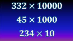 Multiplicar por la unidad seguida de ceros