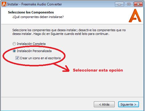 Instalación Personalizada Freemake Audio Converter