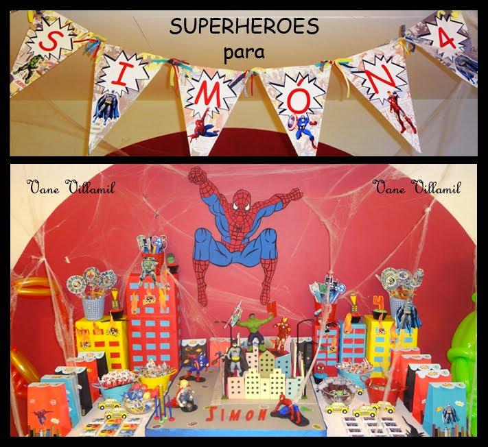 Cumple SUPERHEROES!!!