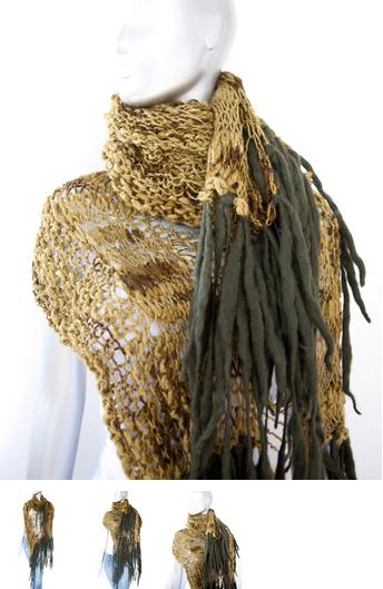 cecilia de bucourt cdbstore hand knitted green moss scarf