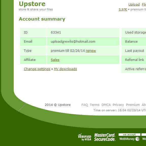 Free Upstore Premium Accounts