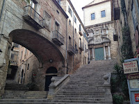 Pujada de Sant Domènec. Girona. Monuments. Barri Vell.