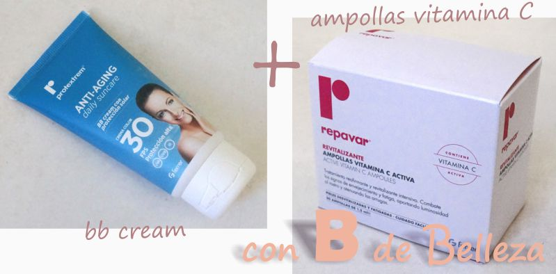 BB cream y ampollas vitamina C