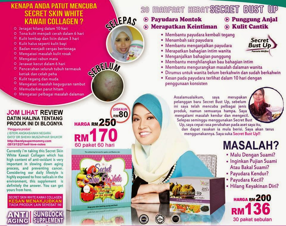 SECRET BUST UP SECRET SKIN WHITE KAWAII COLLAGEN MURAH